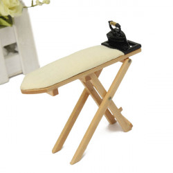 Miniature Ironing Board With Iron Micro landscape Decorations