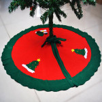 Nonwoven Christmas Tree Skirt Christmas Decoration Supplies Gardening