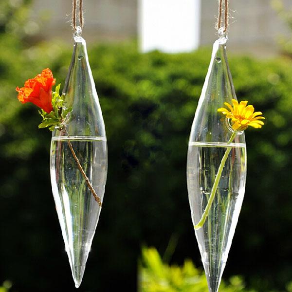 Olive Form Glasvase Blume Pflanze Wasser Behälter Heim Hochzeitsdeko Gartengeräte