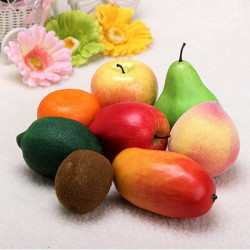Plast Konstgjorda Frukter Plast Mat Heminredning