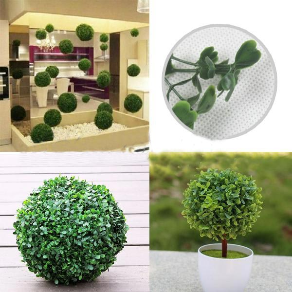Plastic Artificial Topiary Ball Tree Decoration Plant Gardening