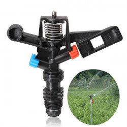 Plastic Double Nozzle Automatic Rotation Lawn Sprinkler Irrigation
