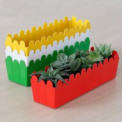 Kunststoff rechteckig Blumentopf modernen minimalistischen Garten Innenblumentopf