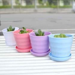 Plast Thread Blomst Pot med Have Bakke Planter Urtepotter