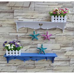 Rektangulära Väggmonterad Trädgård Blomster Shelf Racks Klädkrokar Hem Yard Decor
