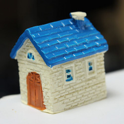 Resin Mini House Micro Landschaft Dekoration Garten DIY Dekor