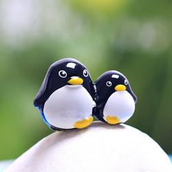 Resin Mini Penguin Micro Landscape Decorations Garden DIY Decor