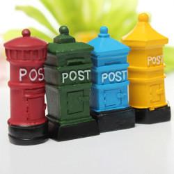 Retro Postbox Micro Landskap Dekorationer Trädgård DIY Decor