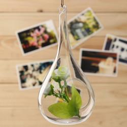 Vand Drop Form Hængende Glas Vase Hydroponiske Blomsterkrukke Have Decor