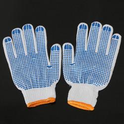 Slidbestandige Bomuld PVC Havehandsker Labor Sikkerhed Arbejder Handsker