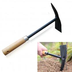 Trähandtag Stål Pickaxe Huvud Hoe Trädgårdsredskap