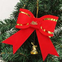 Weihnachten Baumkrone Dekoration Weihnachtsglocke Schleife Ornament