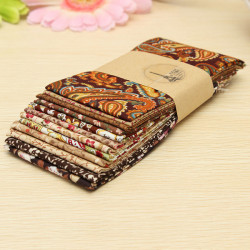 12stk Coffee Series Bomuld Patchwork Fabric DIY Quilting Cloth