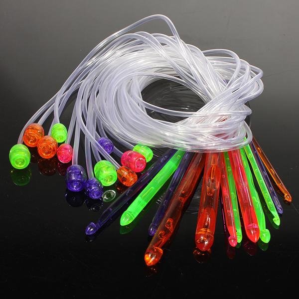 12 Größen Flexible Plastic afghanischen Häkelnadeln Weave Set Knit Needles Heimtextilien
