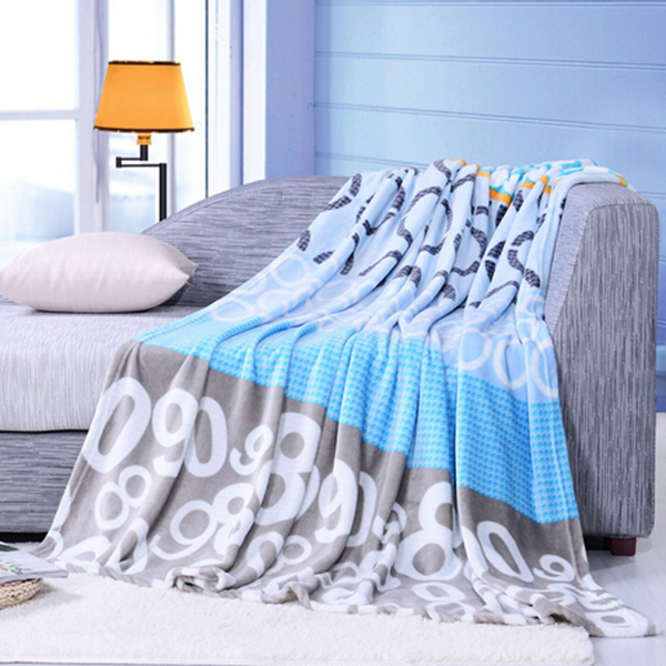 150x200cm Flannel Coral Blanket Bedding Sheet Winter Quilt Flat Home Textiles