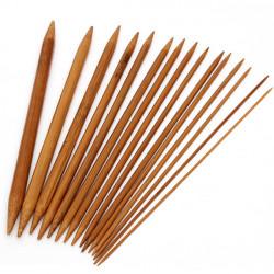 15 Size 75pcs Bamboo Carbonized Crochet Knitting Needle Weaving