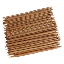 15 Größen Bambusgriff Carbonized Stricknadel