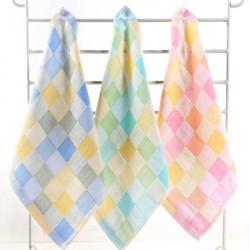 25 * 25cm Baumwolle Gaze Grid Taschentuch Soft Serviette Gesicht Handtuch