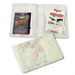 2 Colors World Map Passport Case Credit ID Card Ticket Cover