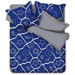 3/4-Pack Suit Polyesterfiberkonstellationsmönster Sängkläder Set