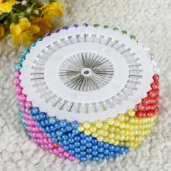 35mm 480stk Multicolor Rundkopf Sewing Pin