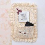 3 Färger Pastoral Style Switch Cover Key Phone Väska Hemtextil
