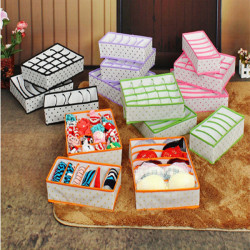 3stk Folding Opbevaring Box for Undertøj Sock Bra Ties Organizer