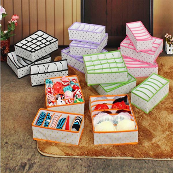 3 stk faltender Aufbewahrungsbehälter für Unterwäsche Socken Büstenhalter Krawatten Organizer Heimtextilien