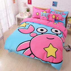 3Pcs Suit Cotton Cancer Cartoon Children Reactive Printed Bedding Sets