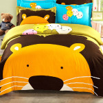 3Pcs Suit Cotton Lion King Cartoon Reactive Printed Bedding Sets Home Textiles