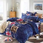 3Pcs Suit Soft Flannel Velvet Reactive Bedding Sets Resistance Cold Home Textiles