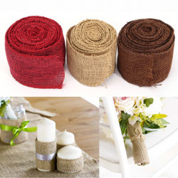3m Jute Tygband Handwork DIY Home Party Bröllop Dekoration