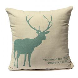 42x42cm Bettwäsche und Baumwoll Kreative Elk Kissenbezüge Heim Sofakissen