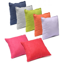 45X45CM Suede Pillow Cases Bed Sofa Cushion Cover 7 Candy Colors