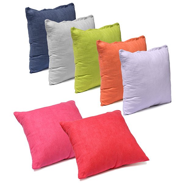 45X45CM Suede Pillow Cases Bed Sofa Cushion Cover 7 Candy Colors Home Textiles