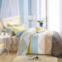 4stk Cotton Dortmund Reactive gedruckte Königin König Quilt Bettbezug Set