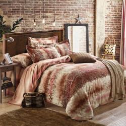 4PCS North American Impression Cotton Queen King Quilt Duvet Cover Set
