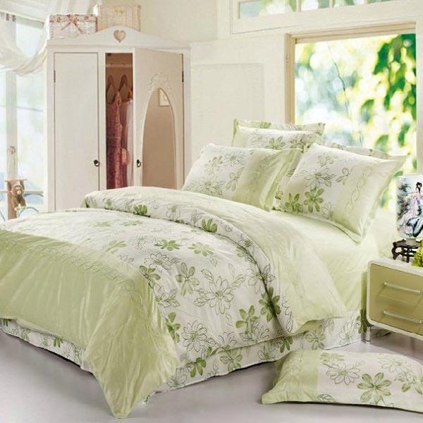 4st Suit Mjuk Short Plysch Blomster Printed Sängkläder Set Hemtextil