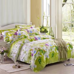 4stk Amazing Time reiner Baumwolle reagierende gedruckte Bettwäsche Set 5 Größe