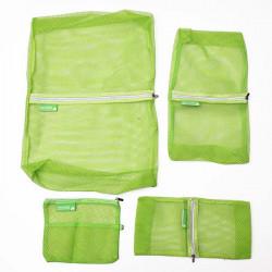 4pcs Nylon Mesh Travel Storage Bag Cloth Organizer 4 Colors