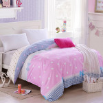 4st Rosa Blå Little Apple Bomull Reaktiv Tryck Sängkläder Set Hemtextil