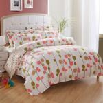 4st Sommar Scent Bomull Reactive Tryck Enkel Stil Sängkläder Set Hemtextil