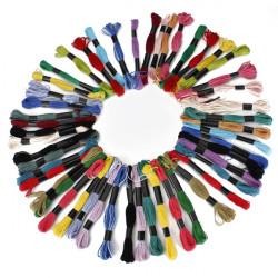 50stk Multicolor Cotton Kreuzstich Stickerei Sewing Thread