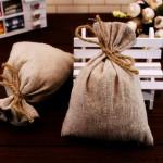 50X50cm Natural Jute Burlap Hessian Fabric DIY Craft Material Home Textiles