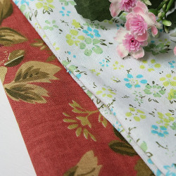 50x50cm Pastoral Printed Bomuld Fabric DIY Quilting Patchwork
