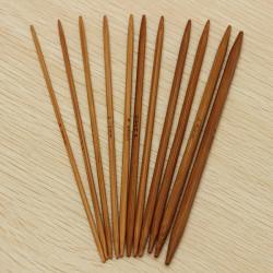 55stk 11 Größen Carbonized Stricknadeln aus Bambus Häkeln Weaving