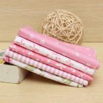5 Assorted Pre Cut Pink Bomuld Fabric Syning Patchwork Diy Cloth Hjem Tekstiler