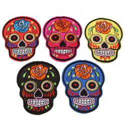 5 Färger Skull Heads Tygmärke Badge Stryker Lappar Goth Punk