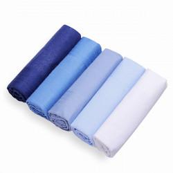 5st Handgjord Bomull Square Män Näsduk Ren Färg Pocket Näsdukar