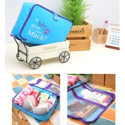 5stk Nylon Gepäcktaschen Reise Wash Bag 4 Farben